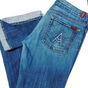 7 For All Mankind A Pocket Cuffed Jean